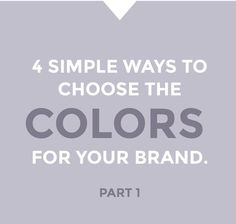 Color plays a HUGE role in the vibe and presence of a brand.