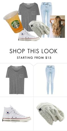 """How to wear school clothes"" by tahans on Polyvore featuring T By Alexander Wang, New Look and Converse"