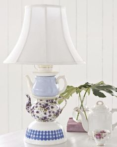 Sweet Paul's Teapot Lamp Project - OK, this is just flat out cute! and I want it.