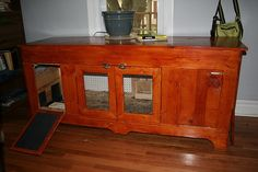 LOVE the idea of repurposing furniture to make a hutch, would def need to be part of a much larger set up tho