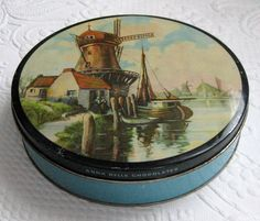 Windmill COOKIE TIN by vintagous on Etsy, $16.00