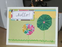 Sewing on a Paper Greeting Card