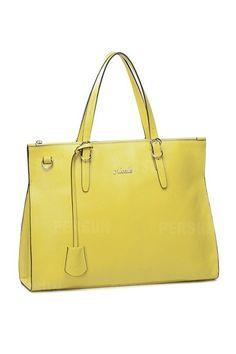 Queen Series Cowhide Leather Handbag In Yellow