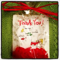Seuss baby shower favor to go with story book theme