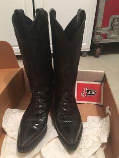 Justin Women's Black Lone Star Calf 93 Cowboy Boots Size 5 5 B Vintage 80s | eBay
