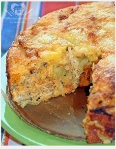 The best restaurant in the world is our house: blender chicken pie without flour No Salt Recipes, Low Carb Recipes, Cooking Recipes, Healthy Recipes, Chicken Recipes, I Love Food, Good Food, Yummy Food, Portuguese Recipes