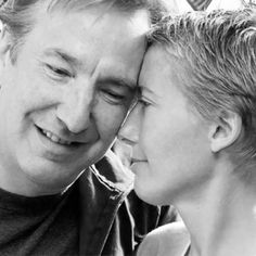 2001 -- Alan Rickman and Emma Thompson. The photo is from the Aid Charity lunch.