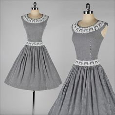 1950's Black and White Gingham