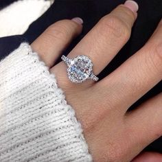 Pin for Later: 31 Real-Girl Halo Engagement Rings That Are Giving Us Bling Envy