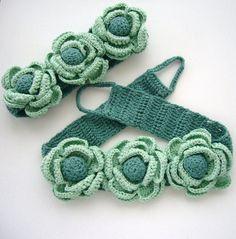Pair of Curtain Tie Backs Hand Crochet Romantic by CraftsbySigita
