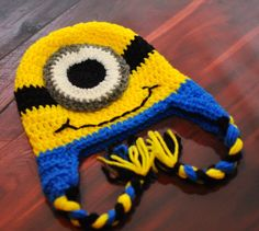 Despicable Me Minion Hat by LoneStarStitches on Etsy