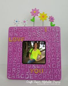 Transform a plain wood frame with craft foam alphabet letters. #diycrafts Kids Alphabet Frame by Heidi Borchers.