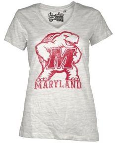 Royce Apparel Inc Women's Short-Sleeve Maryland Terrapins T-Shirt - White XL