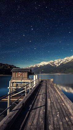 Wooden Lake Pier Nature #iPhone #5s #Wallpaper