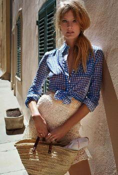 Constance Jablonski Wears Retro Classic For Cedric Buchet In Elle France June 5,2015 - 3 Sensual Fashion Editorials | Art Exhibits - Women's Fashion & Lifestyle News From Anne of Carversville