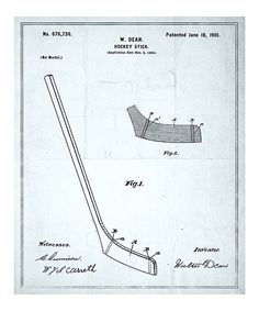 Take a look at this 'Hockey Stick' Patent Art Print on zulily today!