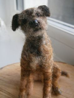 Custom Dog Sculpture /Needle Felted/ Pet Sculpture by FeltedFido - Check out all the breed they have, many are even cuter than this one!
