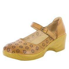 3a3c71ab031 Alegria Rene Cognac stain resistant comfort shoes for women Alegria Shoes
