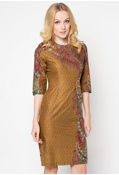 Rd Calista Ctn Silk Sisih Manggar Asri 60 from BATIK SEMAR in brown