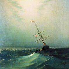 Night, A Blue Wave  -  Ivan Konstantinovich Aivazovsky  1876  Russian 1817-1900