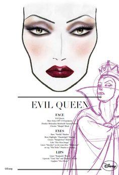 Exclusive MAC Villanous Villains Face Charts - Evil Queen