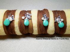 Brown Silk Wrap Bracelet by MyleneV on Etsy, $16.00
