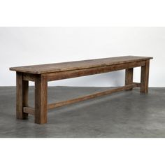 A perennial classic, our 'Farmhouse' bench seat evokes the clean-lined parsons style.    	This stunning bench seat is hand-crafted with solid reclaimed elm wood sourced from old buildings in Eastern Europe which has been pieced together for a great rustic and n