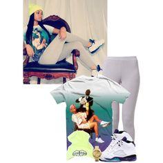 Grapes, grey leggins, Fresh Prince t-shirt