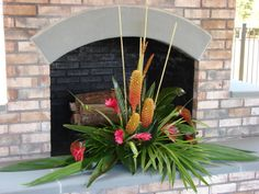 Tropical Floral for fire place area