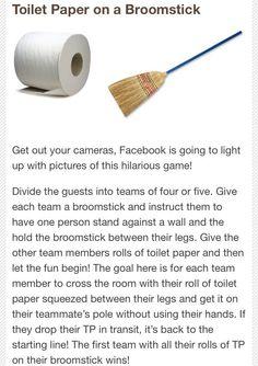 Bridal Shower Game - Broomstick game