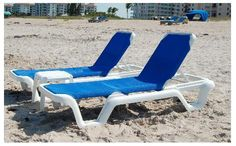 Marina Style Resin Sling Chaise Lounge Chair W O Arms Pool Furniture