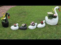 DIY Schwanenjungen,Deko für den Garten/DIY Swan Babys,Decoration for the.