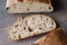 A crusty, chewy sourdough loaf made from freshly milled spelt flour.