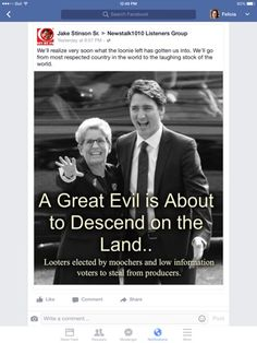 Felicianation Ink: Justin Trudeau will steal from producers to give to moochers