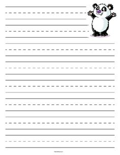 Tiger Lined Primary Lined Paper  Tigers And Teacher