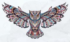 Illustration about Ethnic patterned head of owl on the grey background / african / indian / totem / tattoo design. Illustration of shirts, grey, india - 59912050 Totem Tattoo, Owl Tattoo Design, Tattoo Designs, Indian Tattoo Design, Tattoo Ideas, Celtic Animals, Owl Kids, Owl Wallpaper, Computer Wallpaper