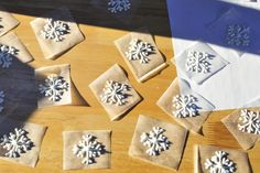 I've done these many times using royal icing, and though they are probably cheaper to make, chocolate snowflakes are definitely tastier; t...