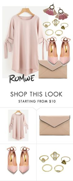"""ROMWE: WIN $35 COUPON"" by aazraa ❤ liked on Polyvore featuring La Diva and Rupert Sanderson"