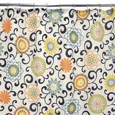 It's amazing how shower curtains can change a bathroom...love them! Waverly Pom Pom Play Shower Curtain