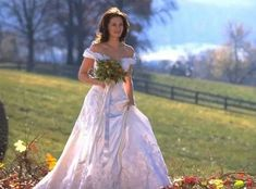 Runaway Bride from Best TV & Movie Wedding Dresses  After running away from no less than five weddings, Maggie's (Julia Roberts) breathtaking Amsale Aberra number more made than made up for the many all the wedding waiting.