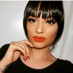 these bangs are everything •❤❤• @melisa_allen • #melisaallen #makeupartist #mua #makeup #hair #flawless #gorgeous #beautiful #model #youtube #blogger #bangs #cosmetics #contour #anastasiabeverlyhills #mac #maccosmetics #lashes #lilylashes #lips #kyliejenner #lipkitbykylie #toofaced #hudabeauty #vegas_nay #nyx #tattoo #inked