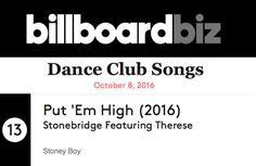 Put 'Em High 2016 up to #13 on Billboard Dance - thank you DJs!! http://www.stoneyboy.com/stores/pehp1