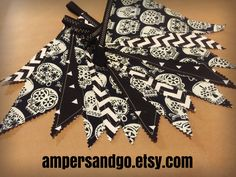 SALE Day of the Dead Banner SUGAR SKULL Halloween Fabric Bunting Black and White Flags Glow in the Dark Skulls Garland Photo Prop Backdrop by AmpersandGO on Etsy https://www.etsy.com/listing/470643862/sale-day-of-the-dead-banner-sugar-skull