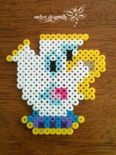 Chip the Tea Cup The Beauty and the Beast perler beads by RockerDragonfly on deviantart
