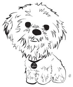 Shih Tzu -- Charity Pups raises awareness and dollars for a different animal-related non-profit each month through dog illustrations. www.charitypups.com #dog #illustration #cute #adorable #puppy #shihtzu