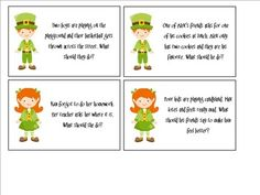 Free! Logical Leprechauns - a game to work on problem solving skills with 24 flashcards!