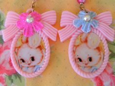 Childrens Bunny Necklaces in Easter Eggs ...sweet treats..party favors