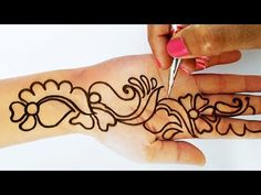 Dear Friends, Today I am showing you a beautiful mehndi design for hands. This mehndi design is very easy to make for ho. Black Mehndi Designs, Latest Bridal Mehndi Designs, Mehndi Designs Book, Latest Arabic Mehndi Designs, Full Hand Mehndi Designs, Indian Mehndi Designs, Mehndi Designs For Beginners, Mehndi Designs For Fingers, Mehndi Design Images