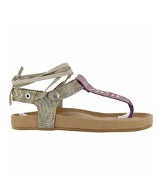 Look at this #zulilyfind! Tan Abstract Scout Suede Sandal #zulilyfinds
