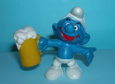 I had this happy little drunk in my stable of Smurfs as a child.